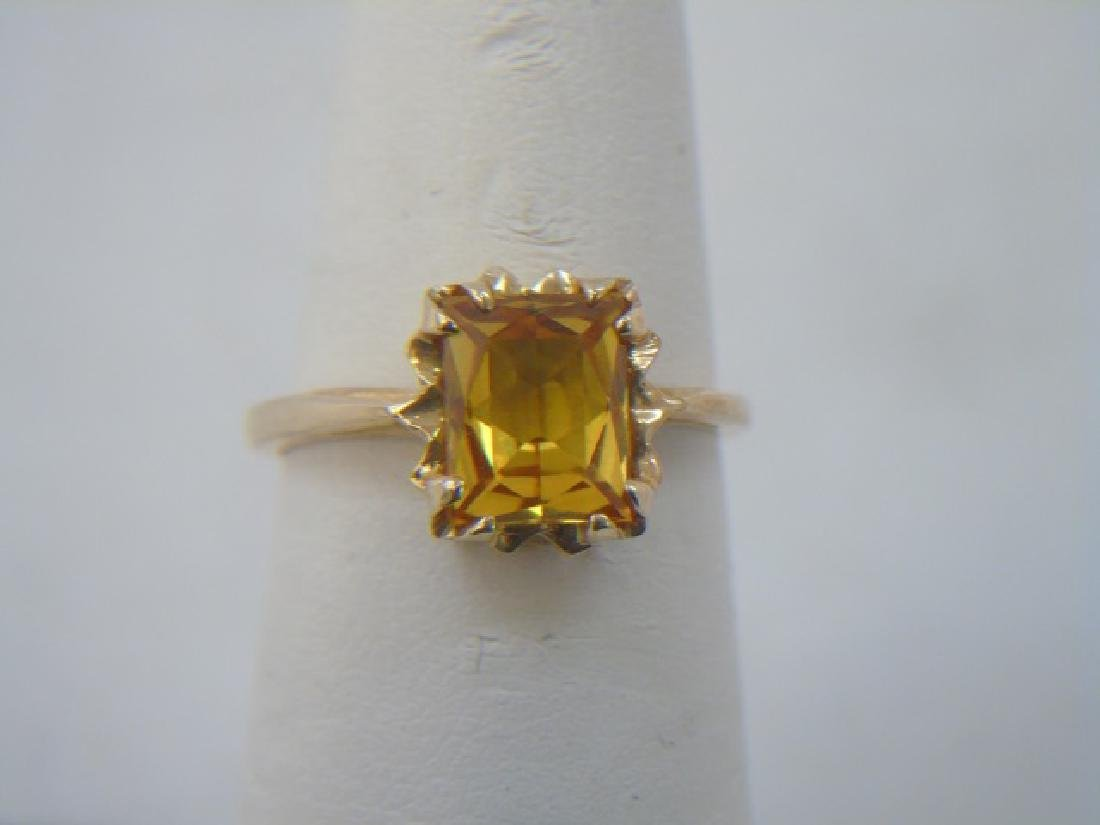 Four Vintage 10kt Yellow Gold Stacking Rings - 5