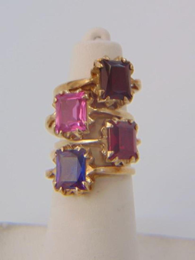 Four Vintage 10kt Yellow Gold Stacking Rings