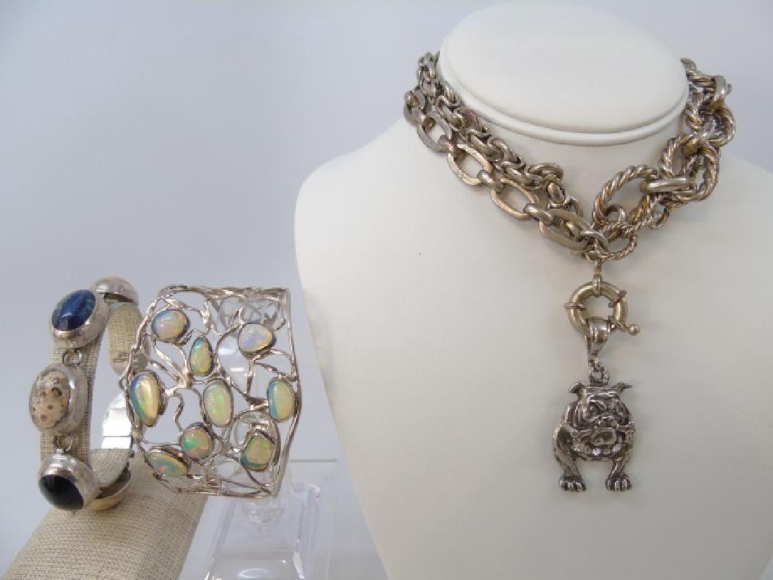 Sterling Silver Group Lot - Bracelets & Necklace