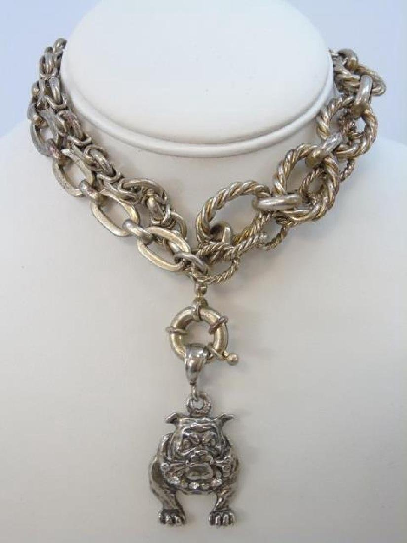 Sterling Silver Group Lot - Bracelets & Necklace - 3