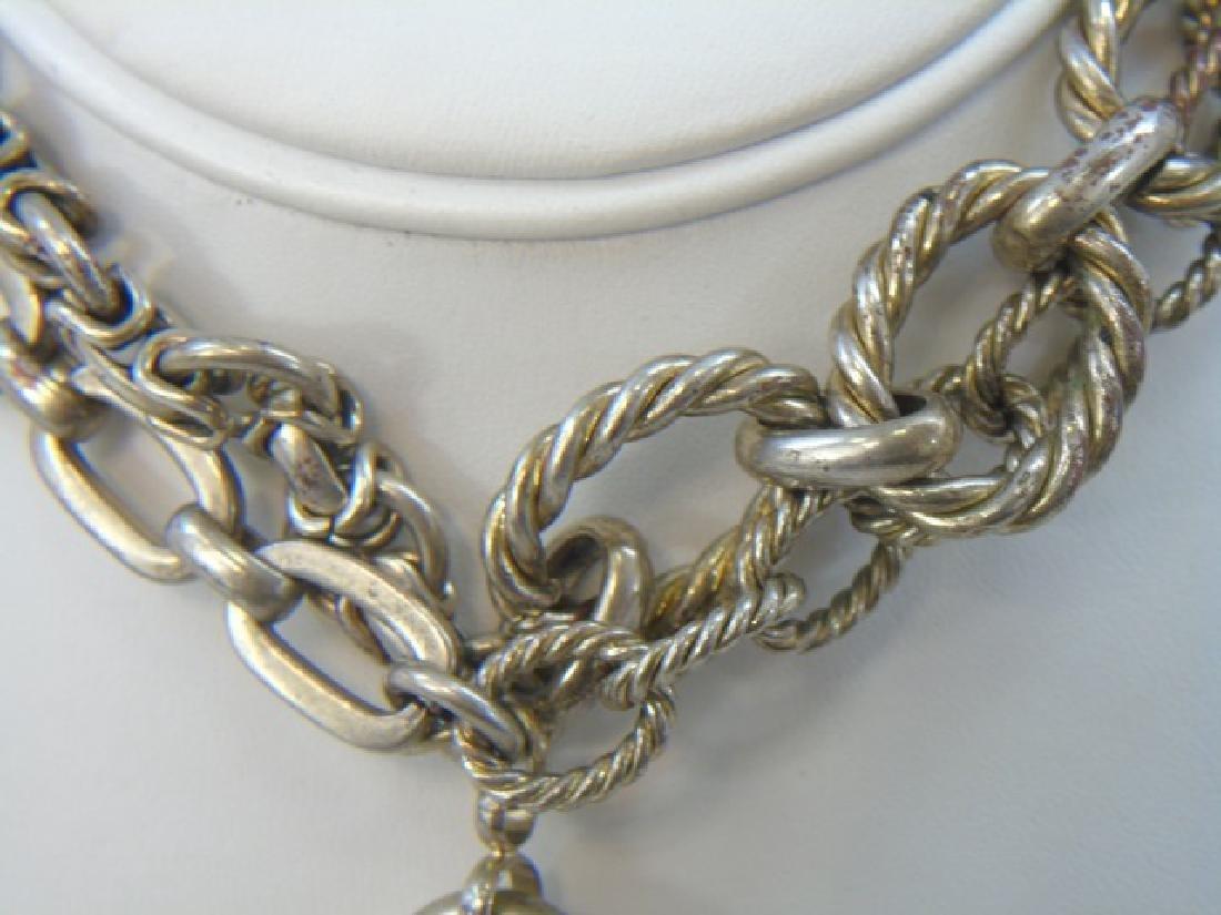 Sterling Silver Group Lot - Bracelets & Necklace - 5