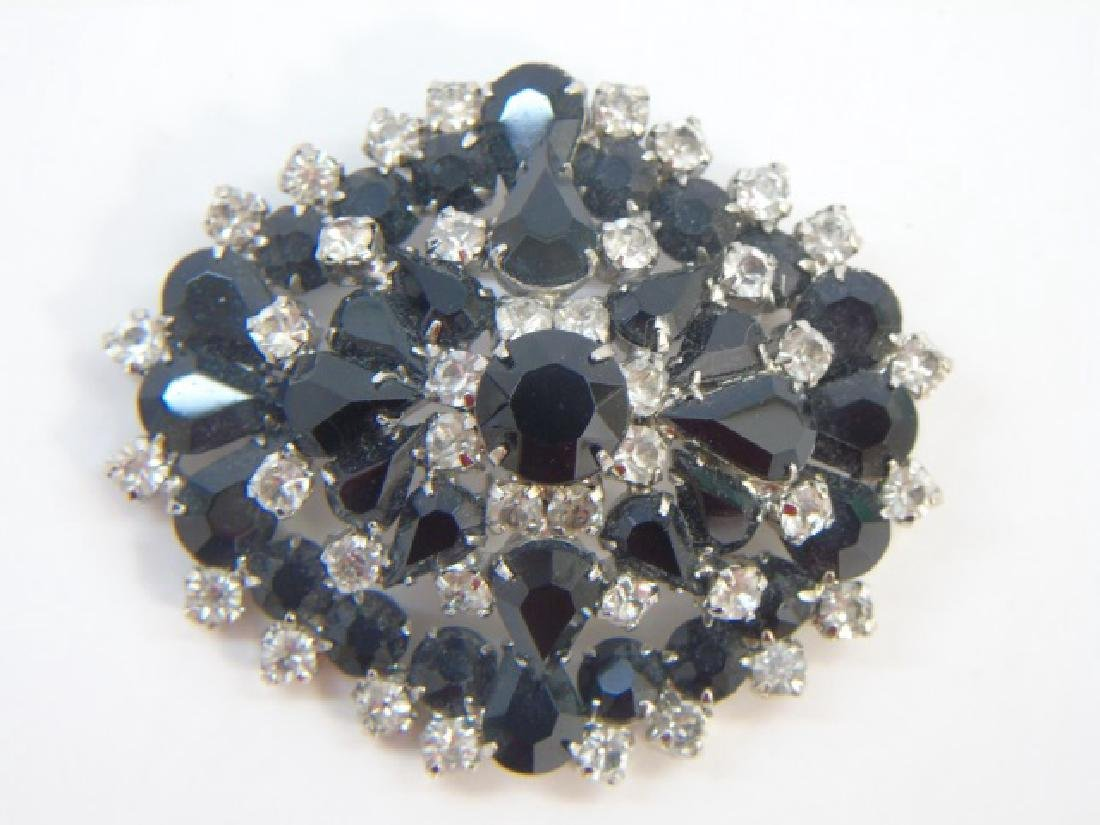 Very Large Vintage Rhinestone Crystal Brooch
