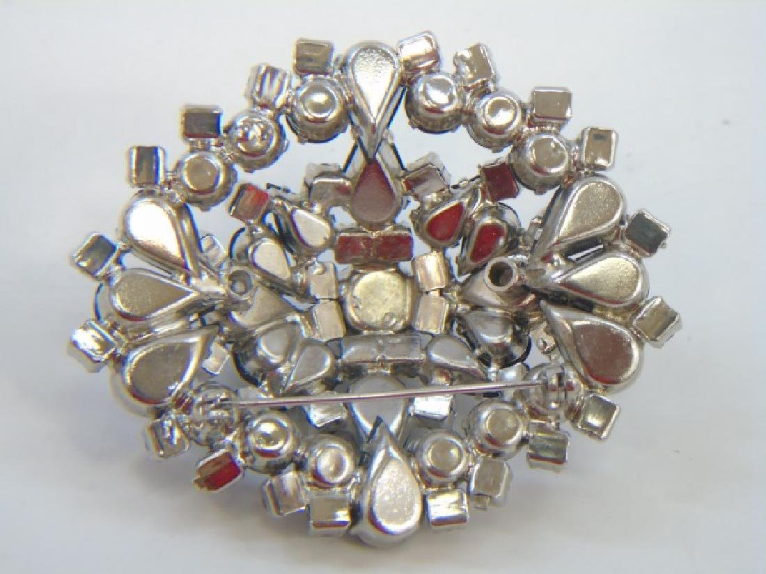 Very Large Vintage Rhinestone Crystal Brooch - 2