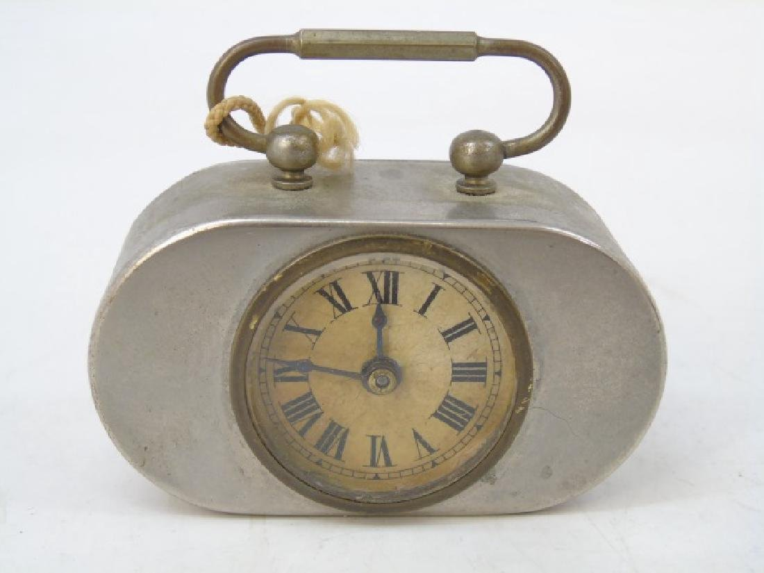 Two Antique Art Deco German Miniature Table Clocks - 3