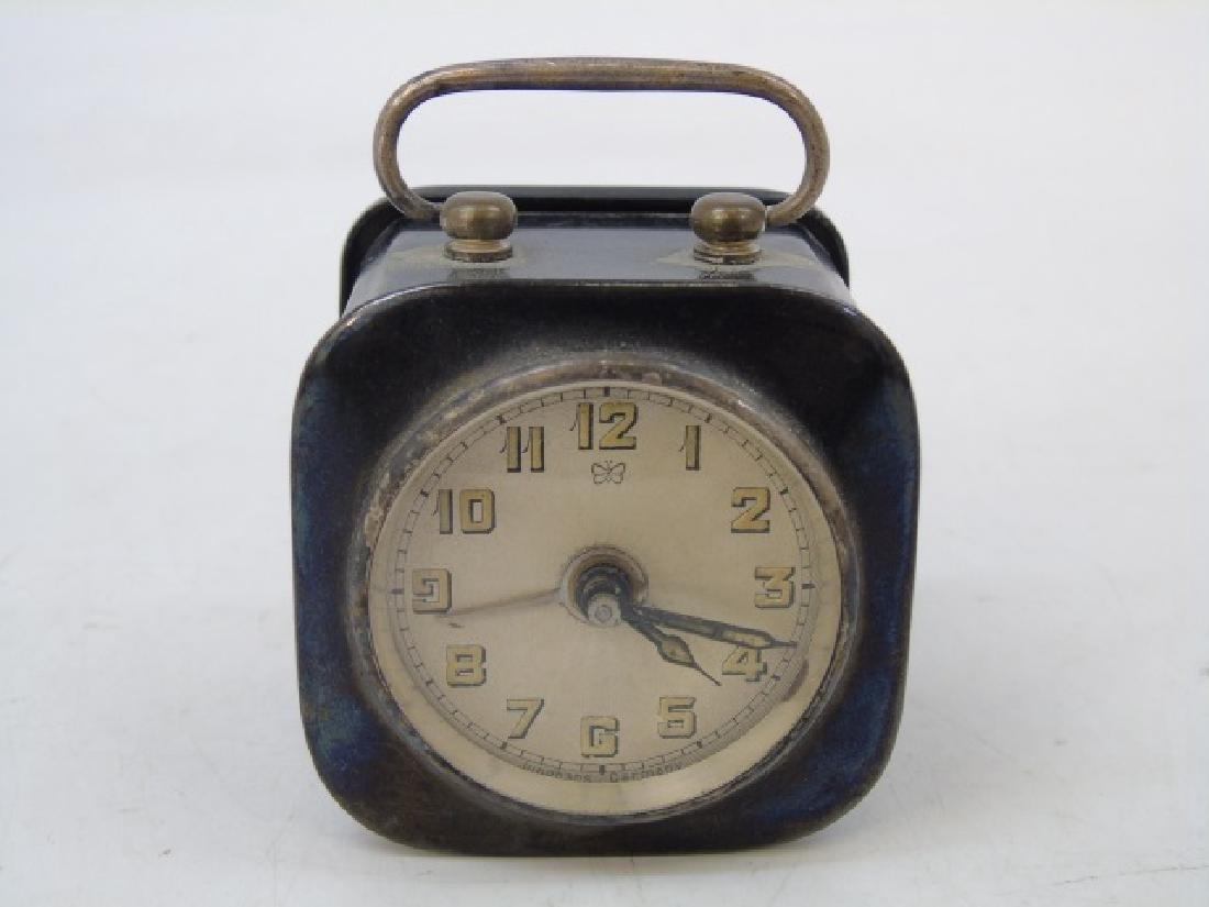 Two Antique Art Deco German Miniature Table Clocks - 5