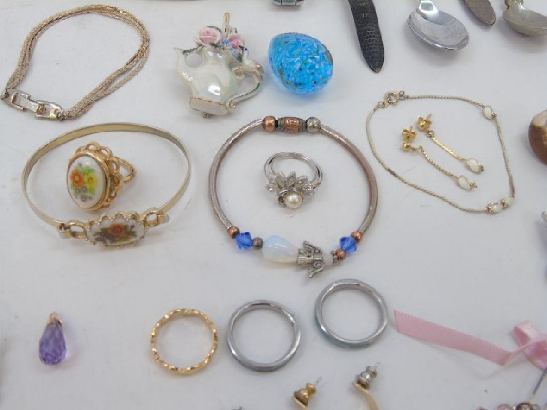 Large Group of Vintage Costume Jewelry & Parts - 5