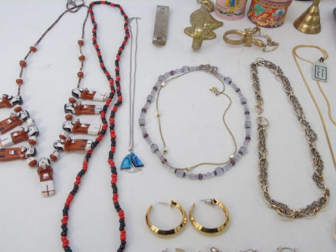 Large Group of Vintage Costume Jewelry & Parts - 6