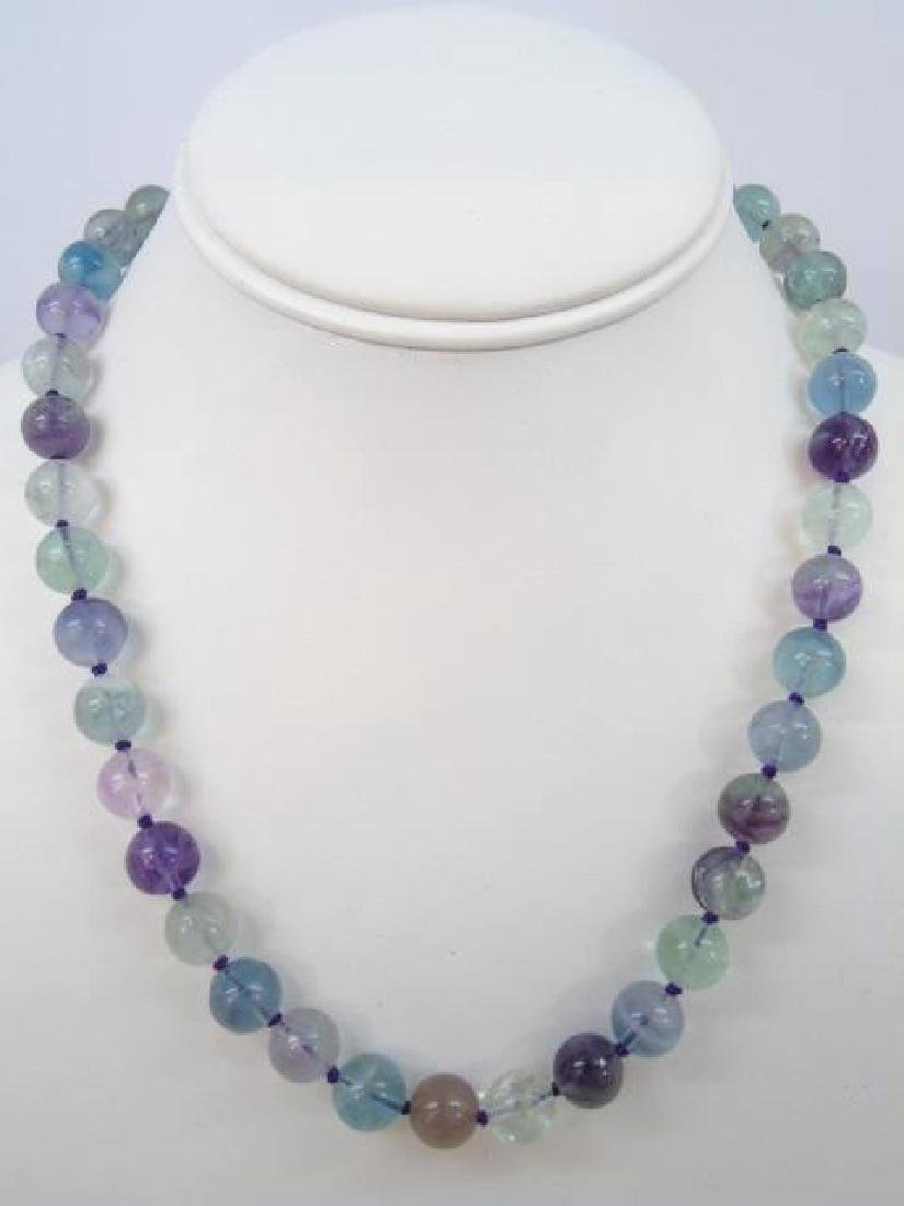 Three Contemporary Carved Hardstone Necklaces - 4