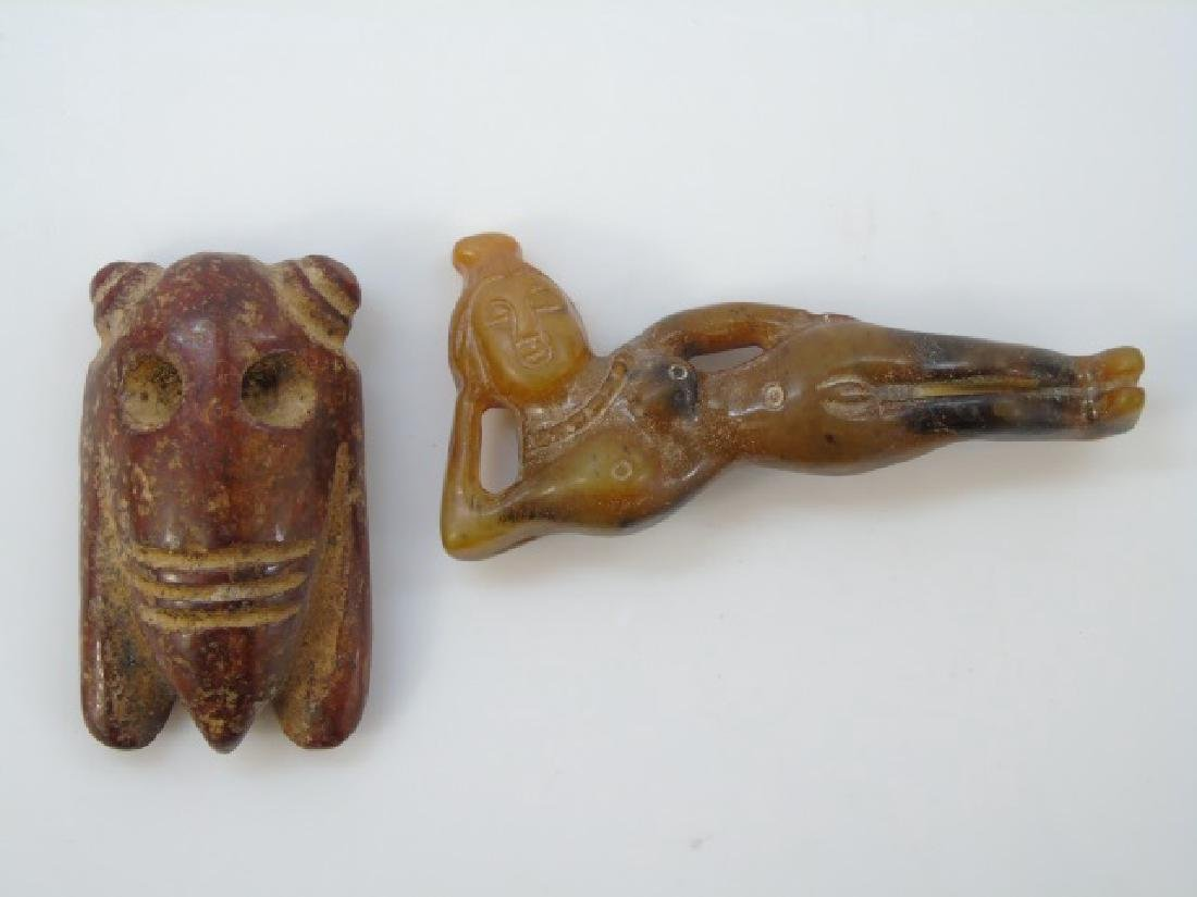 Chinese Doctor Doll & Archaic Style Insect Pendant