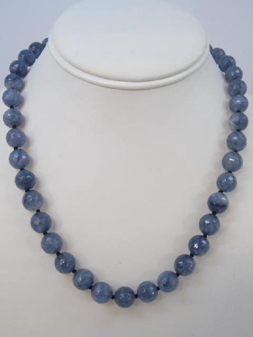 Necklaces - Pair Tumbled Amethyst & Pair Spinel - 2