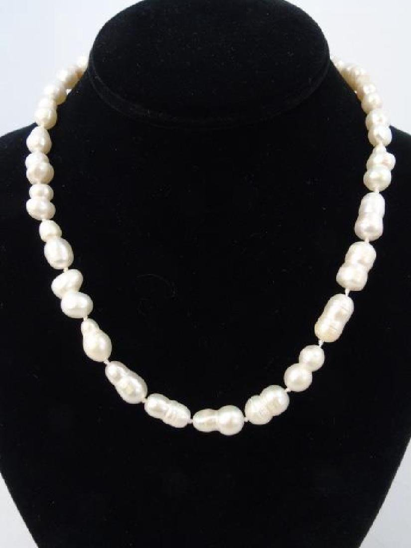 Group of Four Baroque Pearl Necklace Strands - 2