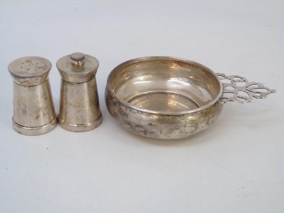 Sterling Silver Porringer & Salt / Pepper Shakers