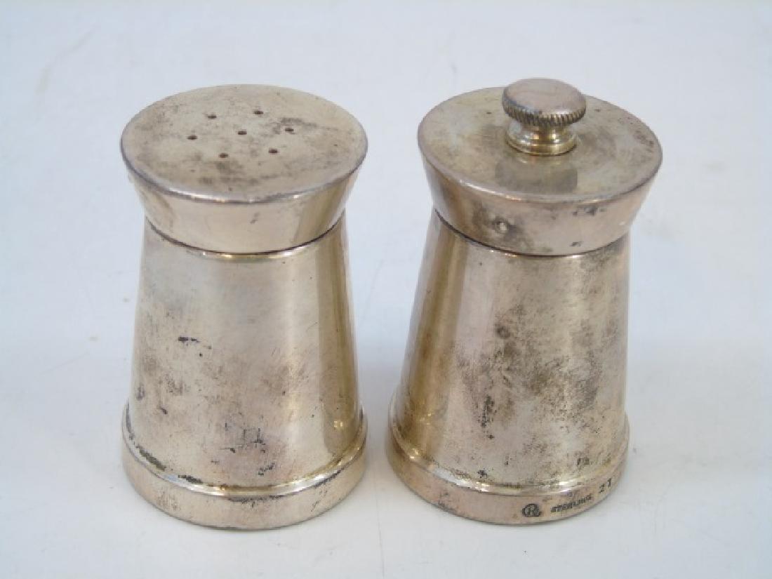 Sterling Silver Porringer & Salt / Pepper Shakers - 4