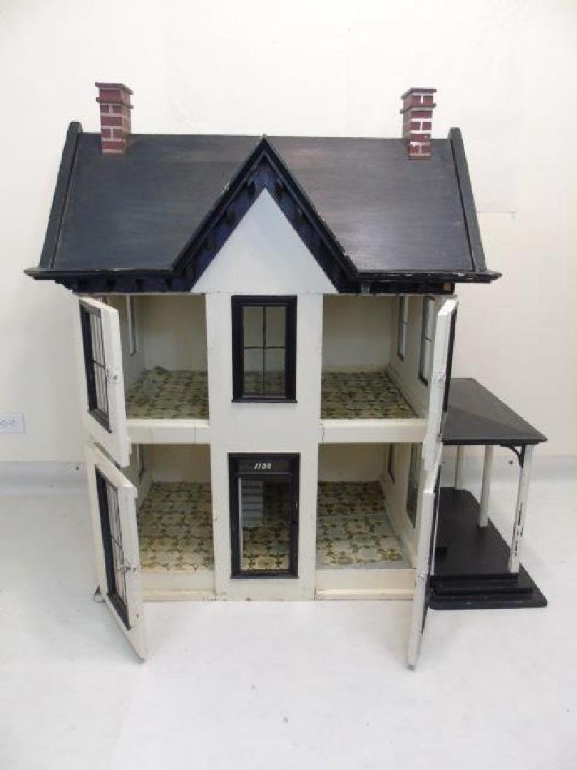 Antique 19th C Victorian American Dollhouse - 7