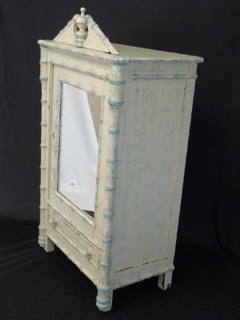 Antique 19th C French Faux Bamboo Doll Armoire - 2