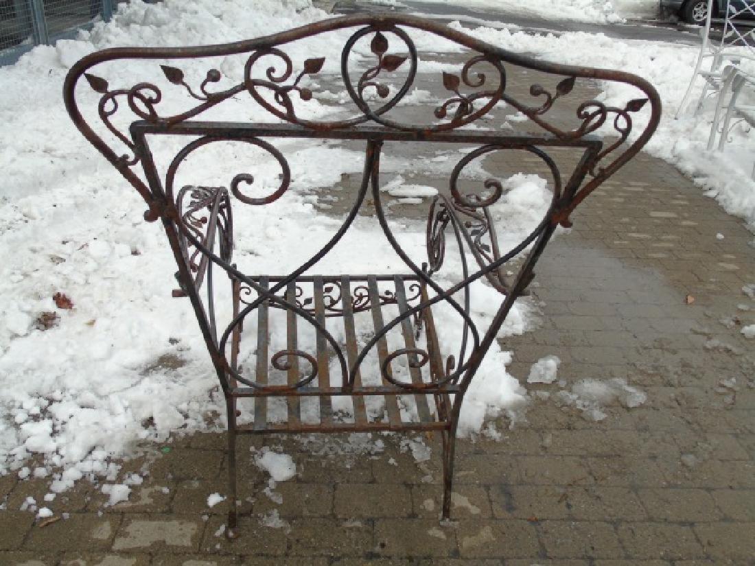 Antique Wrought Iron Outdoor / Patio Armchair - 2