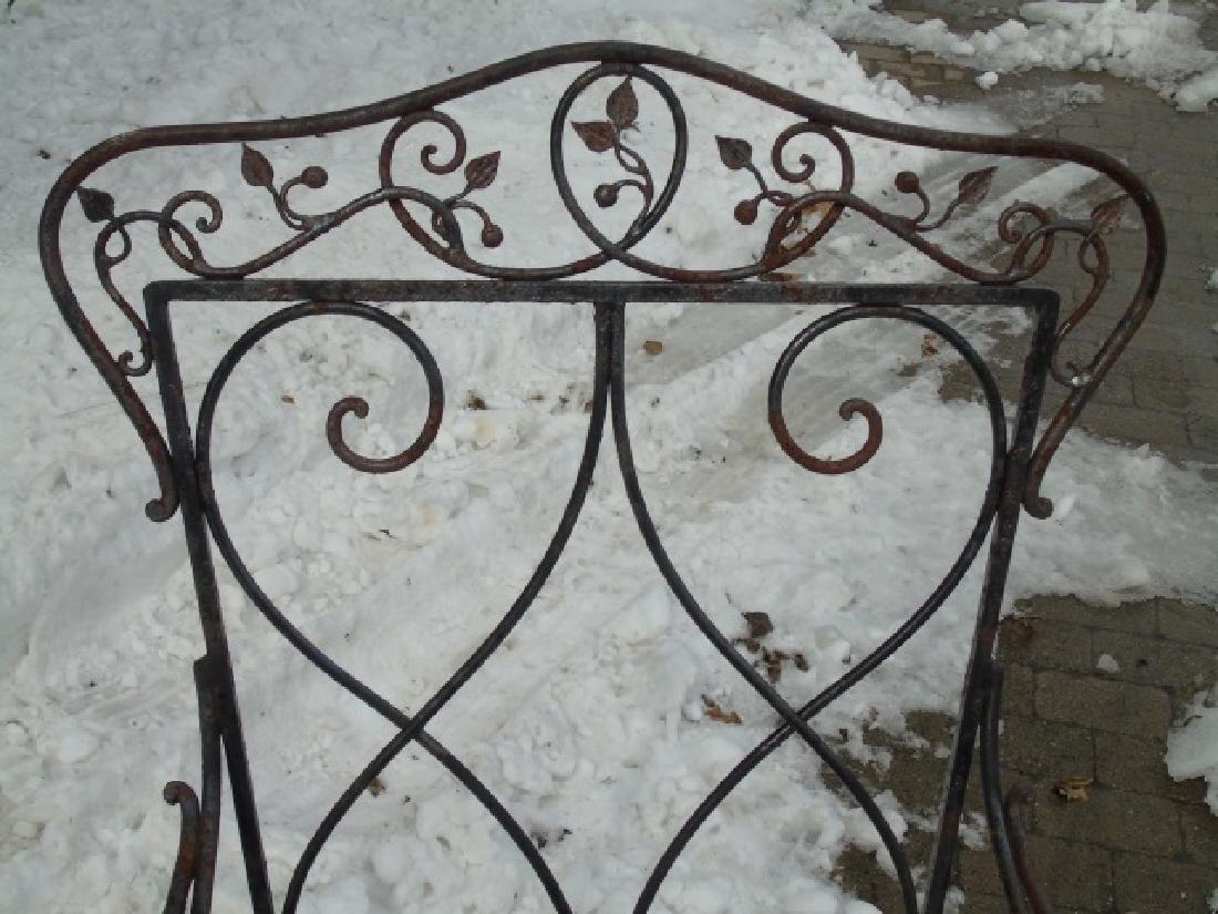 Antique Wrought Iron Outdoor / Patio Armchair - 3