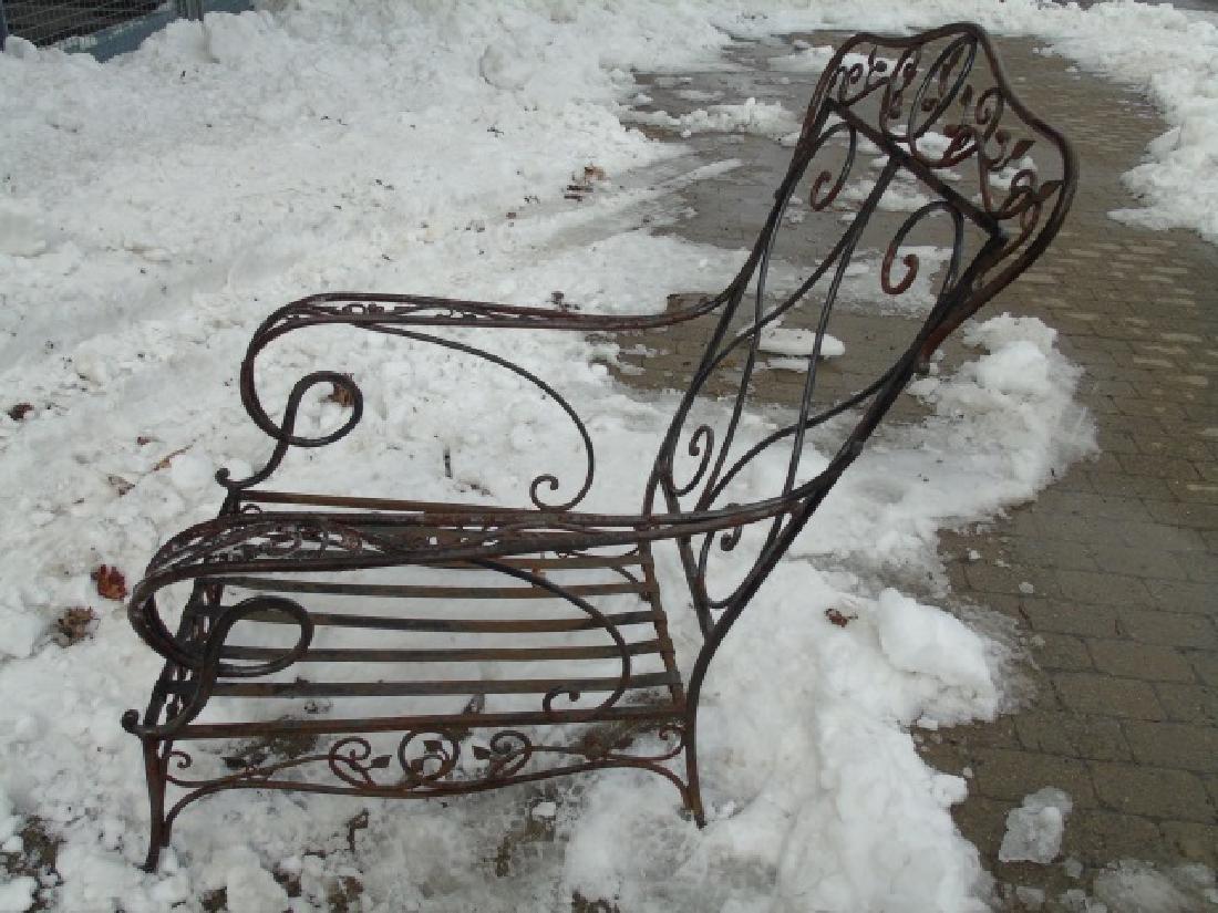 Antique Wrought Iron Outdoor / Patio Armchair - 4
