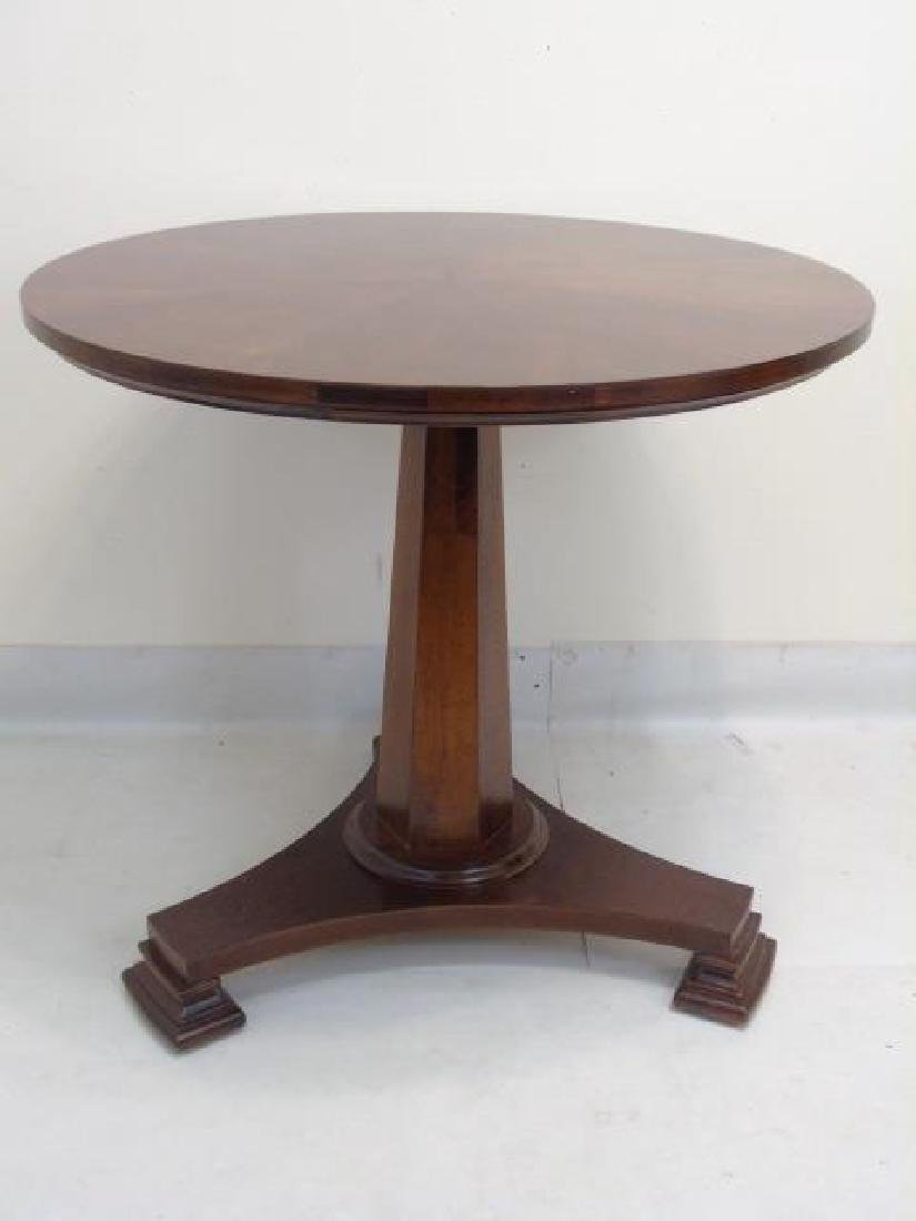 Contemporary Empire Style Round Pedestal Table