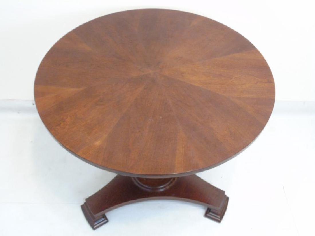 Contemporary Empire Style Round Pedestal Table - 2