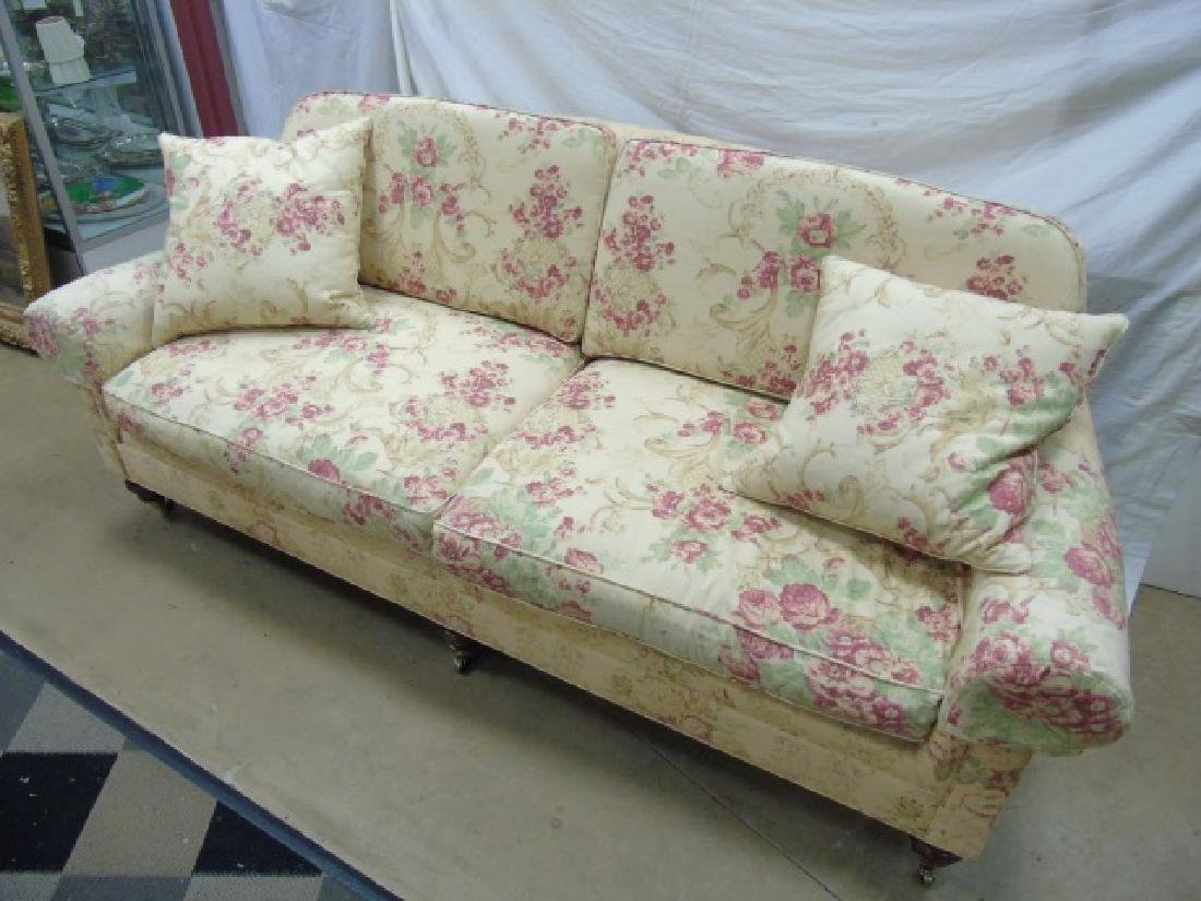 Lillian August Floral Upholstery Rolled Arm Sofa - 3