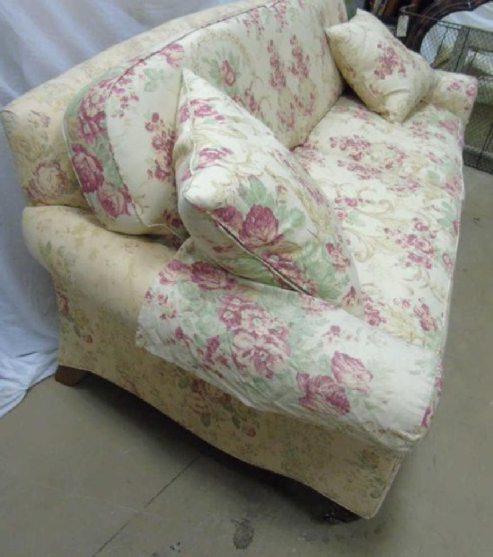 Lillian August Floral Upholstery Rolled Arm Sofa - 4