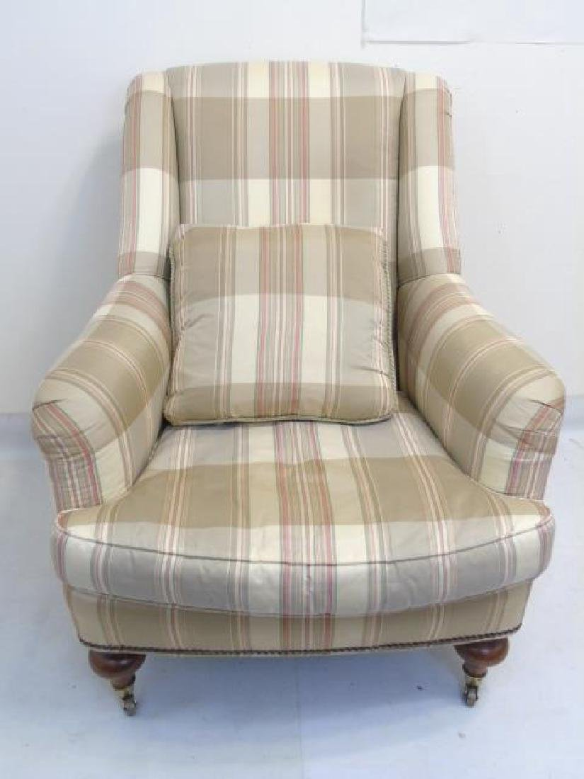 Pair Lillian August Striped Upholstery Armchairs - 3