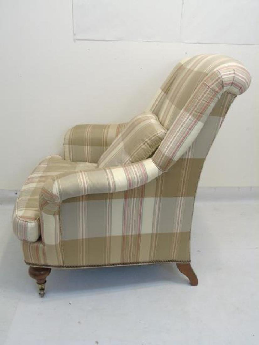 Pair Lillian August Striped Upholstery Armchairs - 5