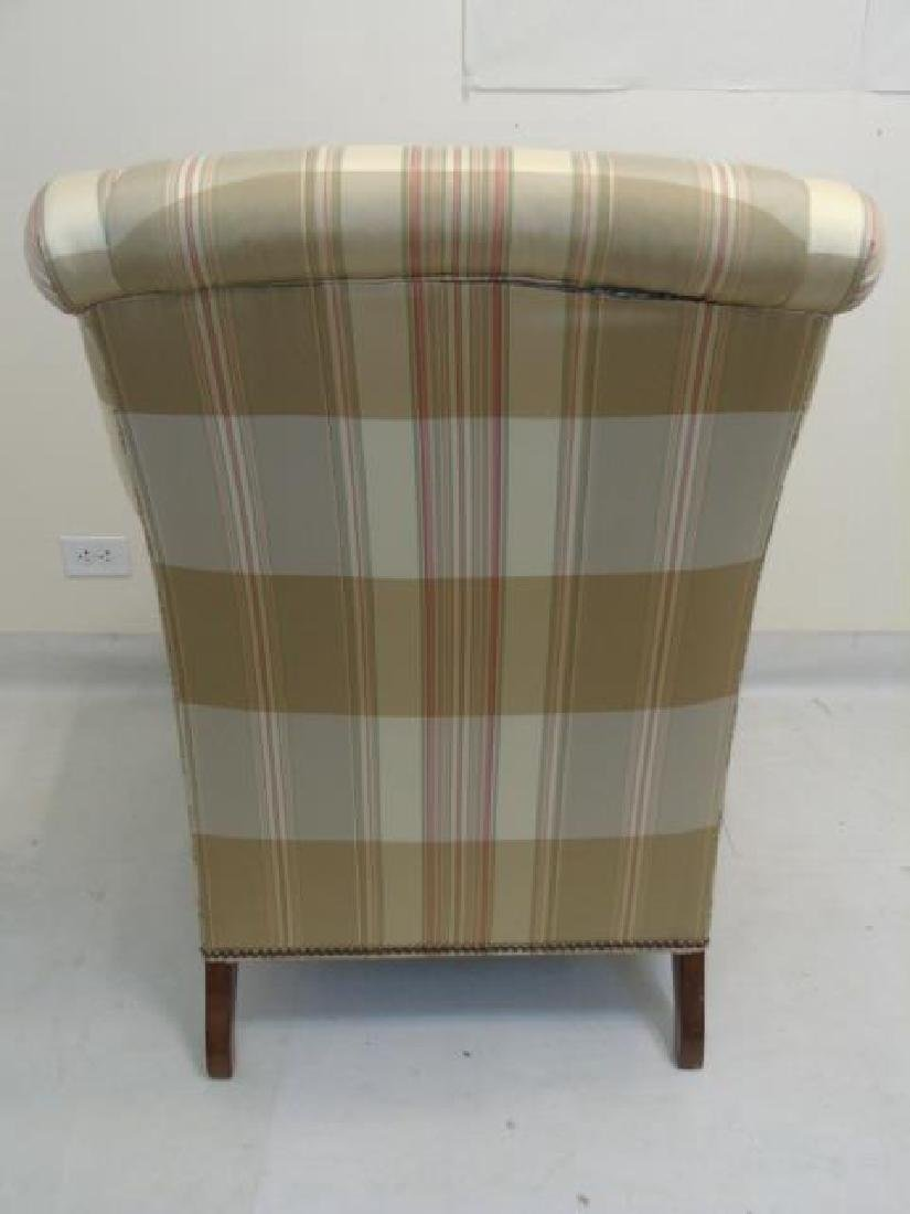 Pair Lillian August Striped Upholstery Armchairs - 6