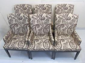 6 A. Rudin Contemporary Brown~White Dining Chairs