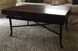 Faux Bamboo Base w Book Top Coffee Table