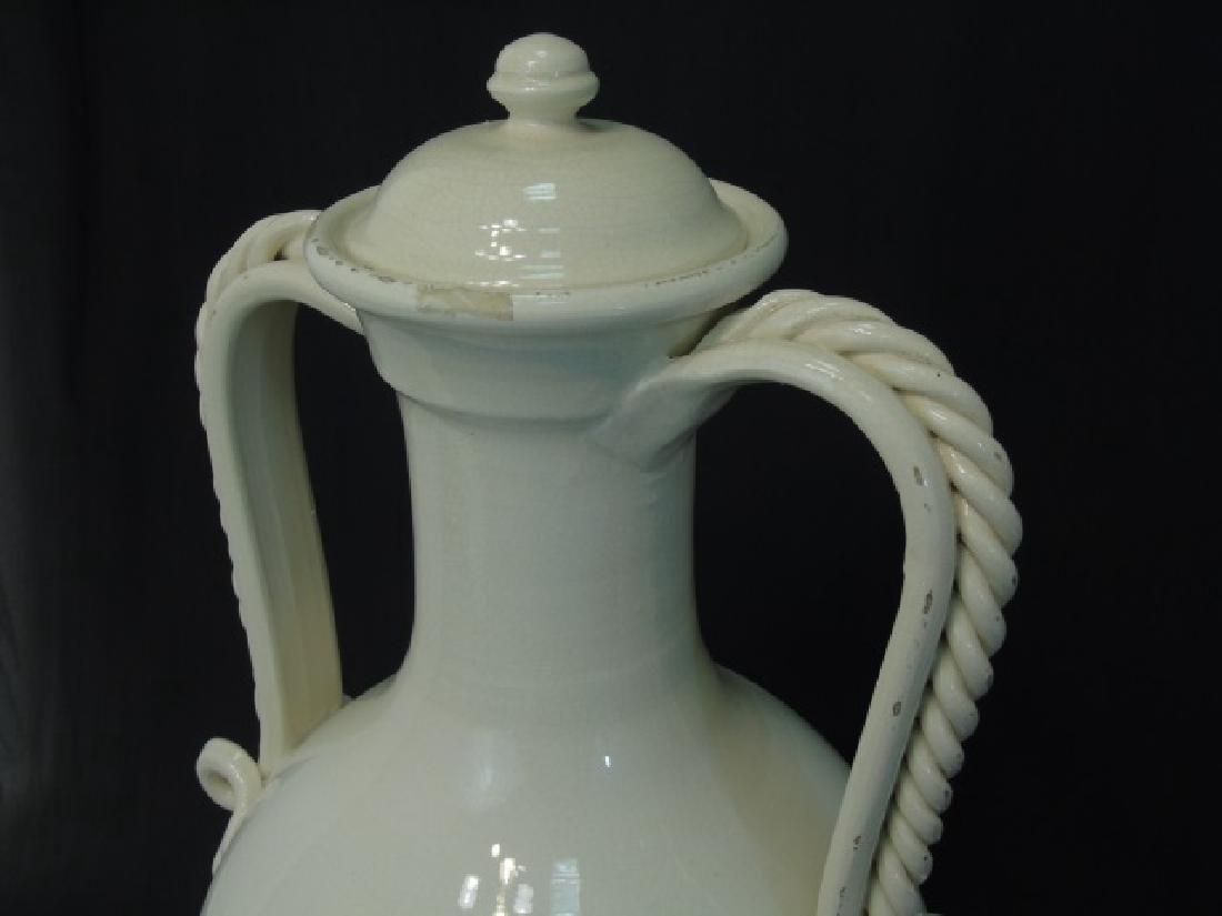 Set of 3 Blanc de Chine Crackleware Lidded Urns - 2