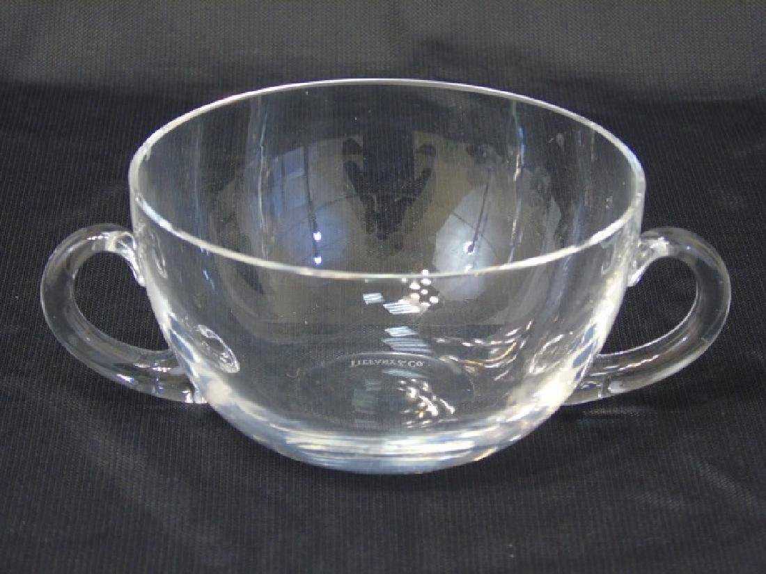 Set of Blown Glass Tiffany & Co Handled Bowls - 3