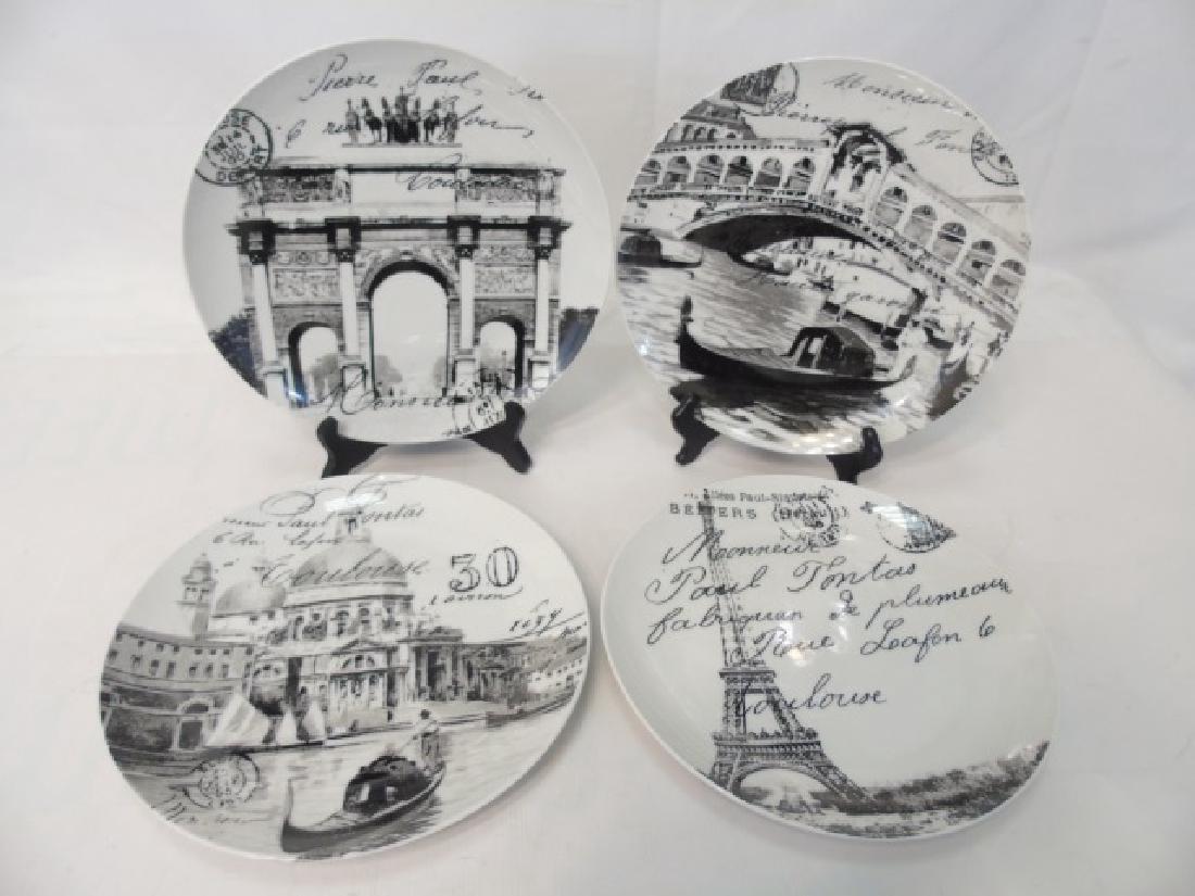 Limoges Plates, Tina Higgins Plates & Metal Tray - 5