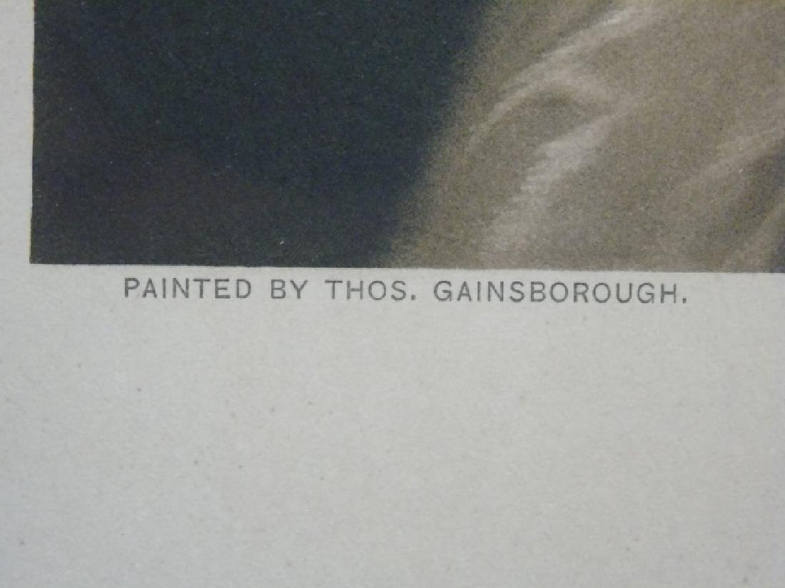 2 Antique Framed Prints - Van Dyck & Gainsborough - 2