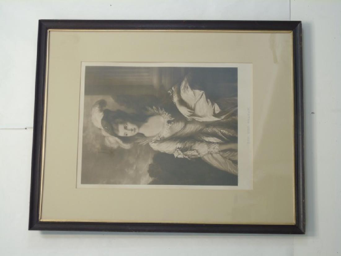 2 Antique Framed Prints - Van Dyck & Gainsborough - 3