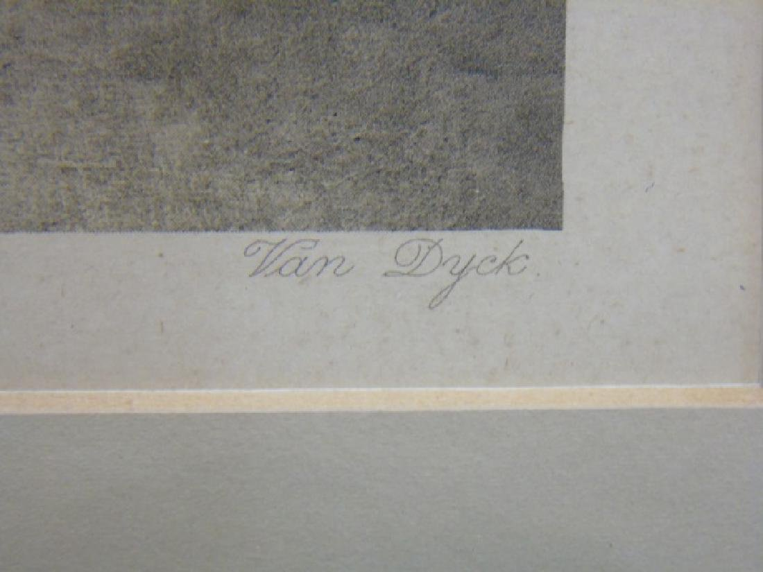 2 Antique Framed Prints - Van Dyck & Gainsborough - 5