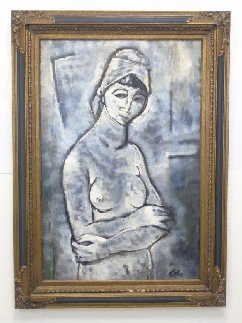 Cohen Signed Painting on Canvas of Nude Woman