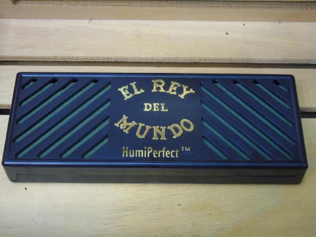 Burl Wood Humidor with Glass Door, 4 Drawers - 5