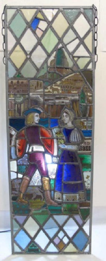 Gertrude and Robert Metcalf -  Stained Glass Panel