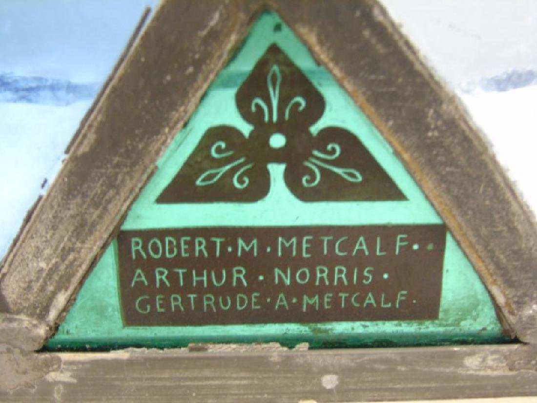 Gertrude and Robert Metcalf -  Stained Glass Panel - 2