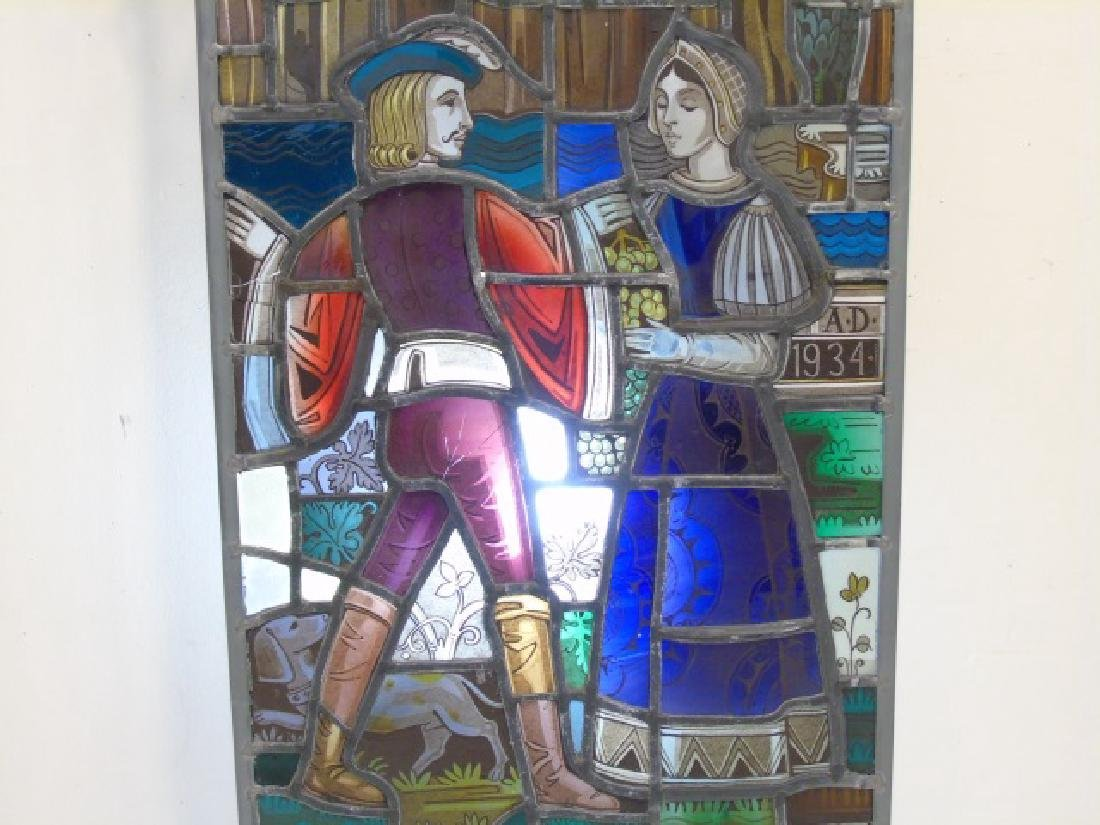 Gertrude and Robert Metcalf -  Stained Glass Panel - 4