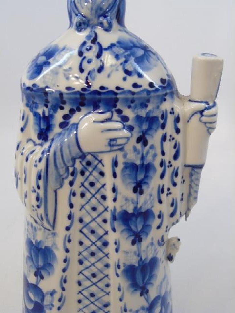 Russian Gzhel Porcelain Figure - Man in Robe - 3