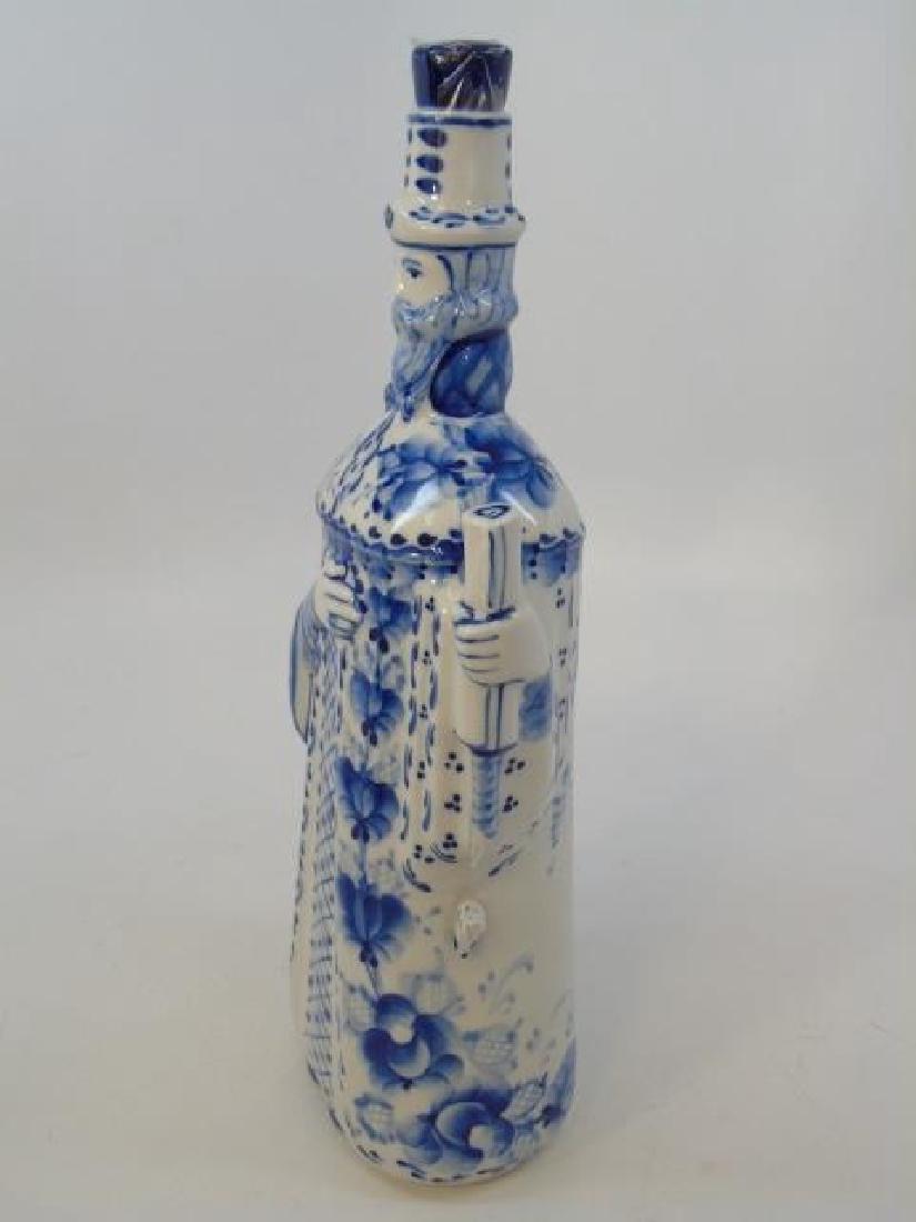 Russian Gzhel Porcelain Figure - Man in Robe - 4