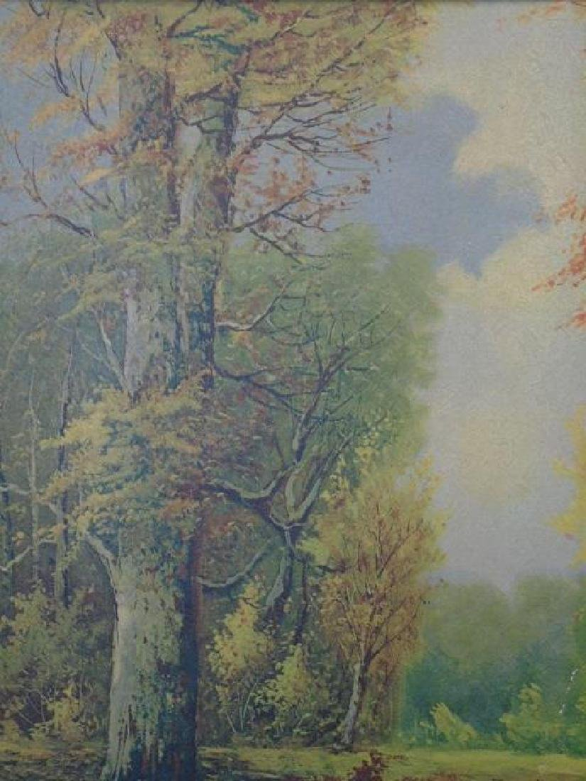 Framed Print after A. Lenhert Painting Fall Woods - 2