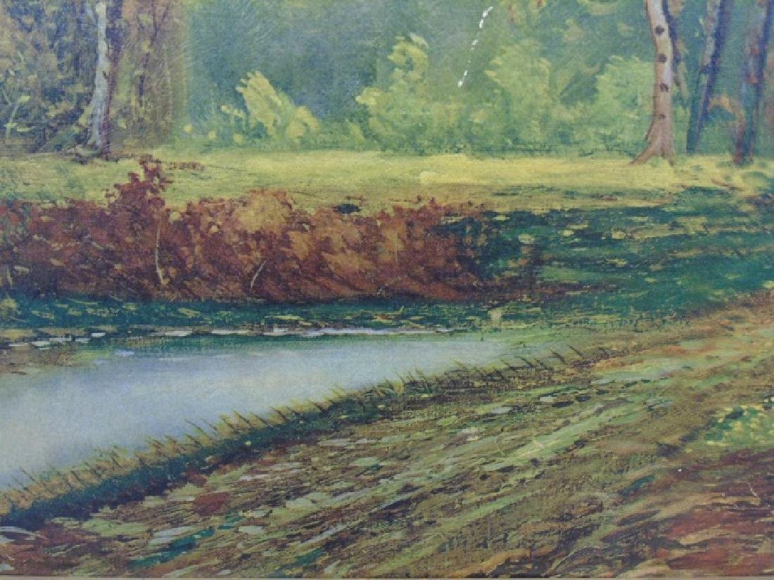 Framed Print after A. Lenhert Painting Fall Woods - 4