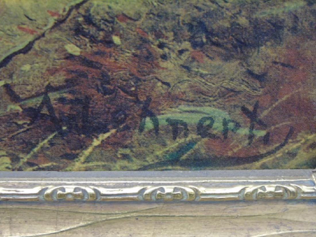 Framed Print after A. Lenhert Painting Fall Woods - 5