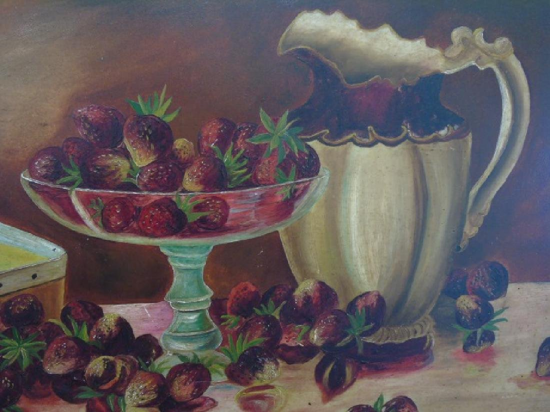 Still Life Oil Painting of Berries and Pitcher - 2