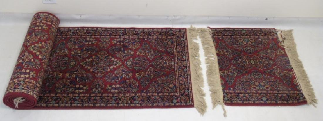 Two Vintage Oriental Carpets - Runner & Throw
