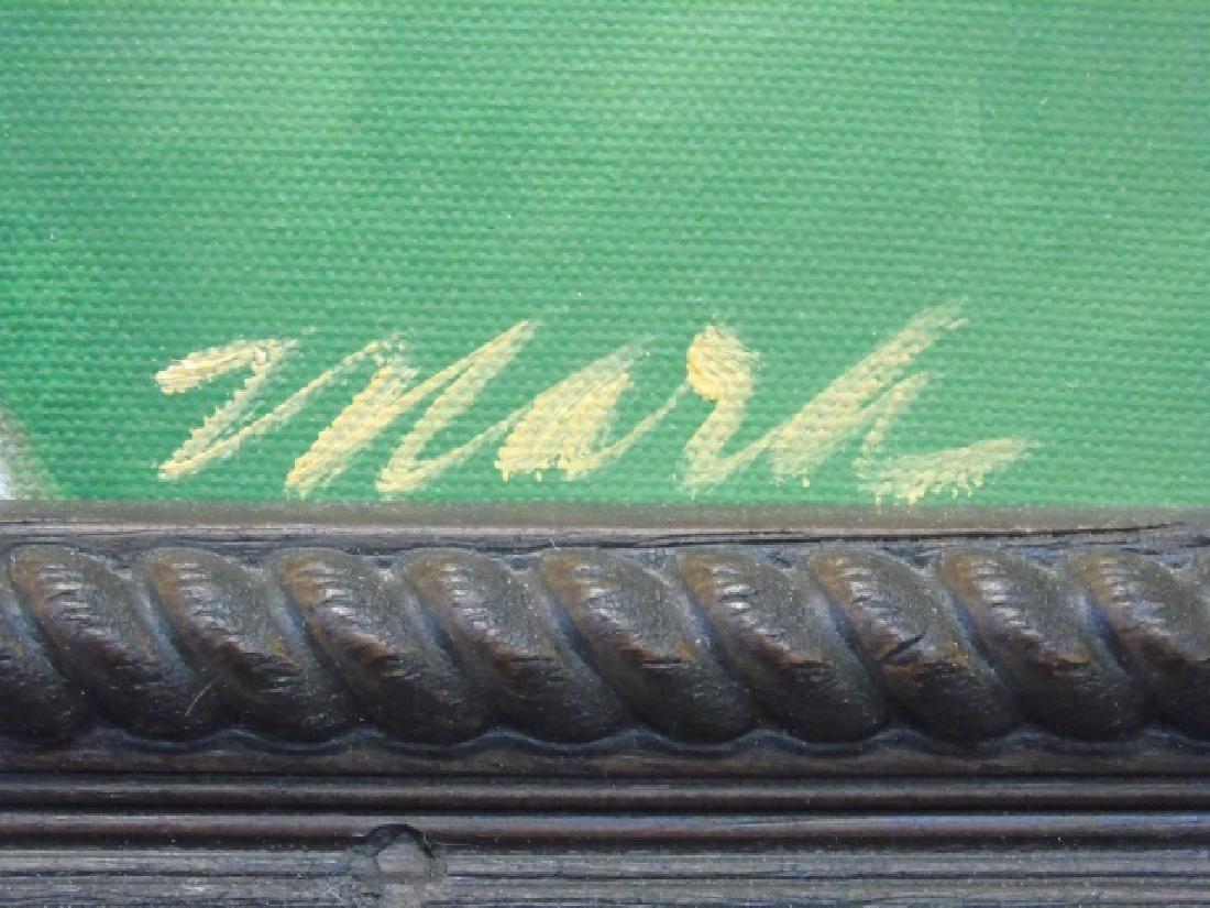 Mara Signed, Framed Painting of Golden Retriever - 2